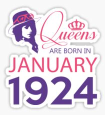 It's My Birthday 94. Made In January 1924. 1924 Gift Ideas. Sticker