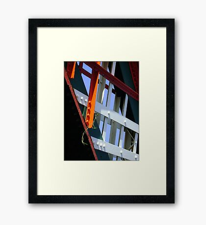 amid steel (plant and bridge-girders) Framed Print