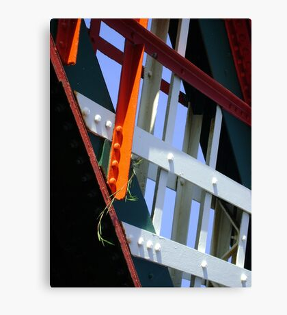 amid steel (plant and bridge-girders) Canvas Print