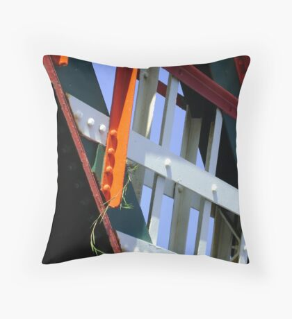 amid steel (plant and bridge-girders) Throw Pillow