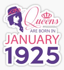 It's My Birthday 93. Made In January 1925. 1925 Gift Ideas. Sticker