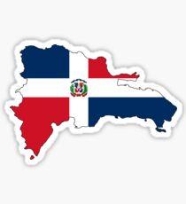 Dominican Republic flag map Sticker