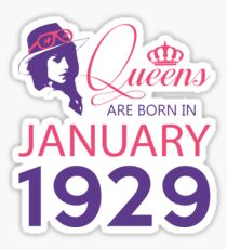 It's My Birthday 89. Made In January 1929. 1929 Gift Ideas. Sticker