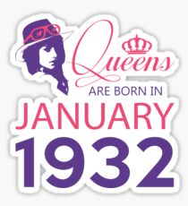 It's My Birthday 86. Made In January 1932. 1932 Gift Ideas. Sticker