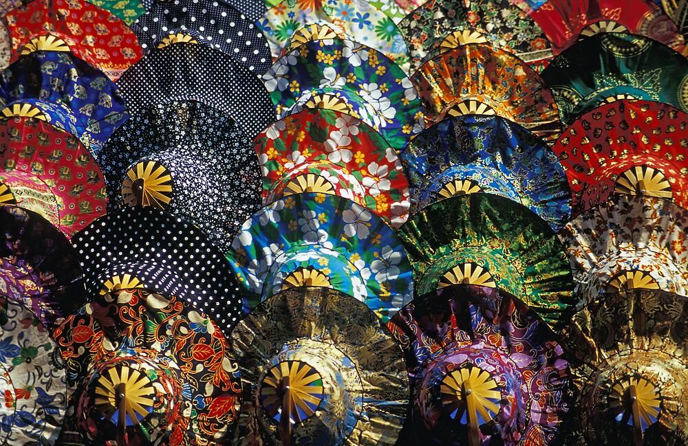 Colourful Umbrellas, Thailand by Petr Svarc