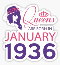 It's My Birthday 82. Made In January 1936. 1936 Gift Ideas. Sticker