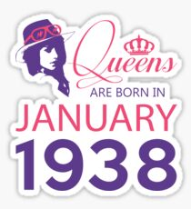It's My Birthday 80. Made In January 1938. 1938 Gift Ideas. Sticker