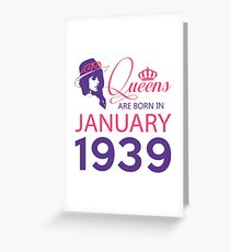 It's My Birthday 79. Made In January 1939. 1939 Gift Ideas. Greeting Card