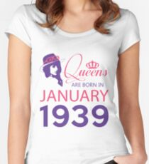 It's My Birthday 79. Made In January 1939. 1939 Gift Ideas. Women's Fitted Scoop T-Shirt
