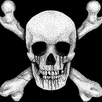 Jolly Roger - Stippling Distressed Pirate Skull by GrizzlyGaz
