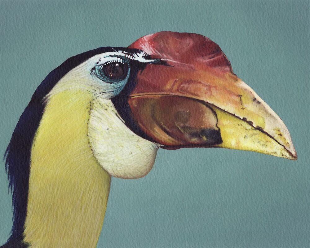 Wrinkled Hornbill by Scott Simpson