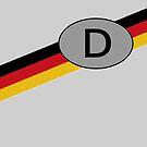 Deutschland D Tag with German Flag by edsimoneit