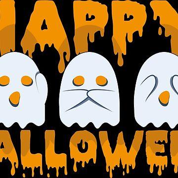 Ghost Emoji Halloween Set by Vi-Key