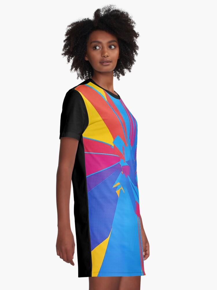 Alternate view of Pop Art Structure Graphic T-Shirt Dress
