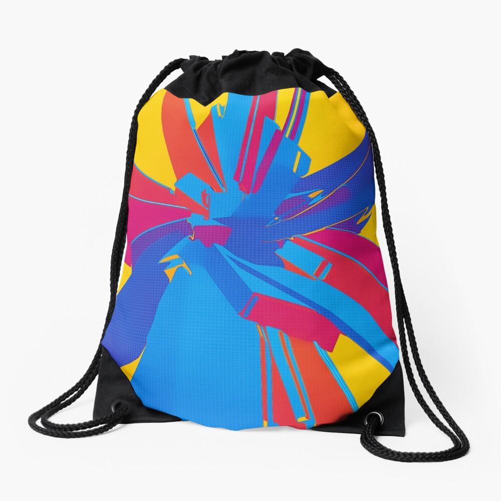 Pop Art Structure Drawstring Bag