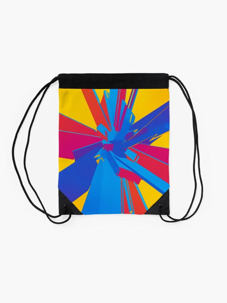 Alternate view of Pop Art Structure Drawstring Bag