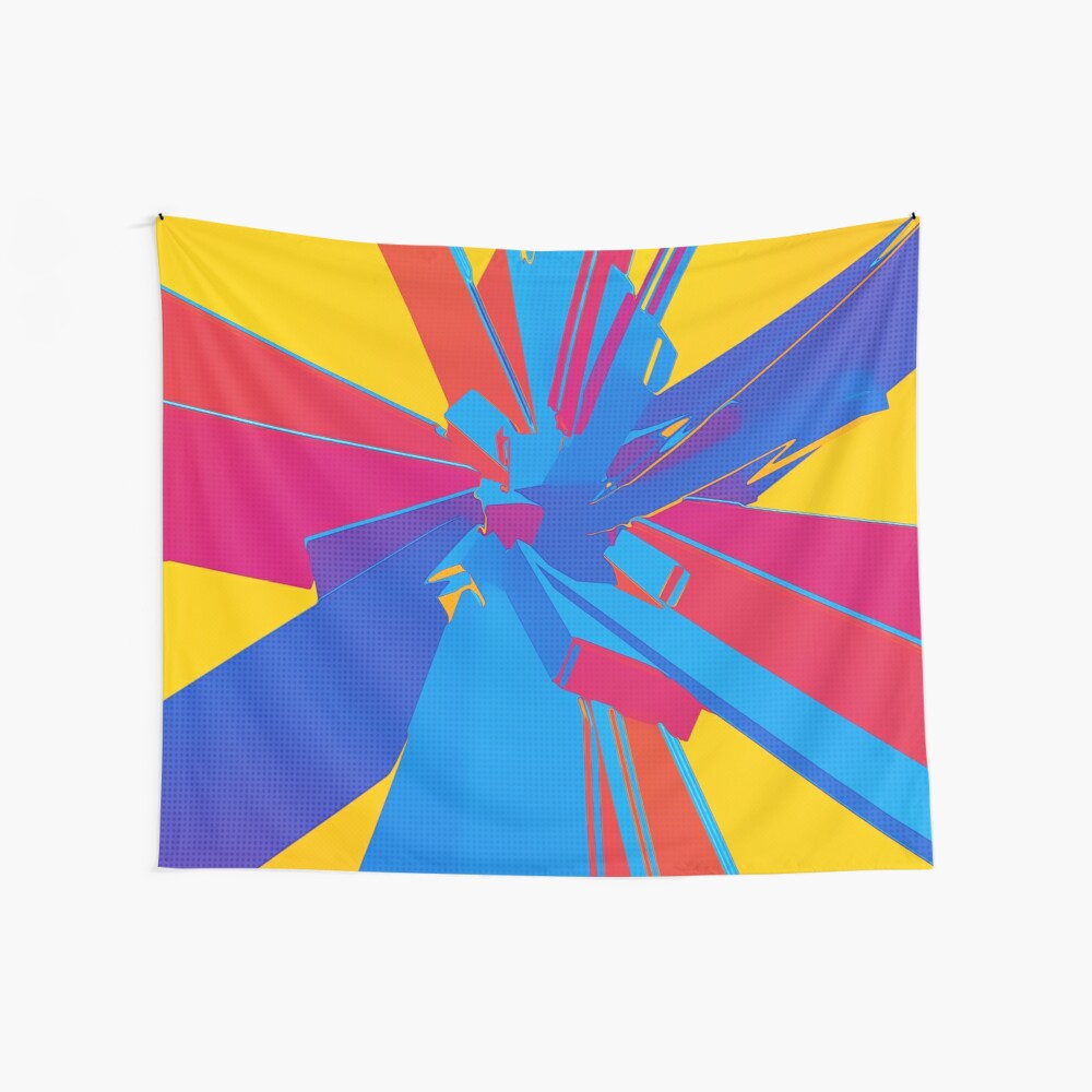 Pop Art Structure Wall Tapestry