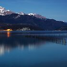 Nightfall on Annecy lake by Patrick Morand