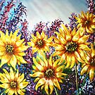 """Sunflowers"" - oil painting by Avril Brand"