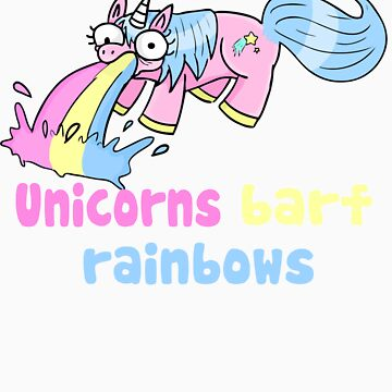 unicorns barf rainbows by blumascara