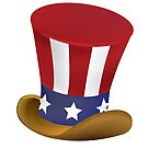 Uncle Sam's top hat by Laughingbellies