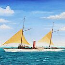 19th Century Yacht by Brad A. Thomas