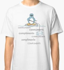 Penguin Fishing for Compliments Metaphor Classic T-Shirt