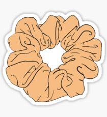 orange scrunchie Sticker
