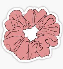 Rotes Scrunchie Sticker