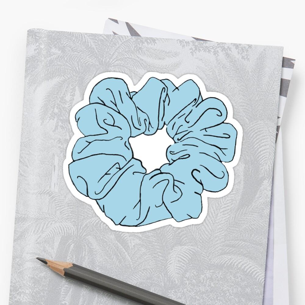 blaue scrunchie Sticker