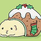 Guinea pig in a Christmas Pudding Bed  by zoel