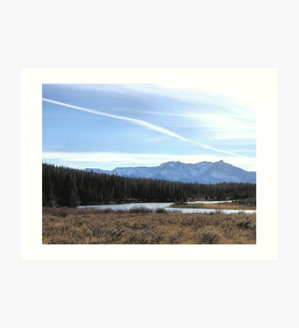 Fall Mountain Meadow With A View Art Print