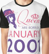 It's My Birthday 17. Made In January 2001. 2001 Gift Ideas. Graphic T-Shirt