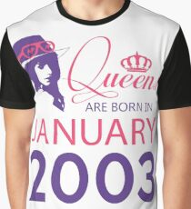 It's My Birthday 15. Made In January 2003. 2003 Gift Ideas. Graphic T-Shirt