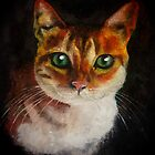 Tabby Cat in Oils by Pasha by goddamnmedia