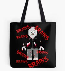 A LOT OF BRAINS - ZOMBIE MINIFIG Tote Bag