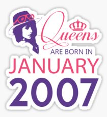 It's My Birthday 11. Made In January 2007. 2007 Gift Ideas. Sticker
