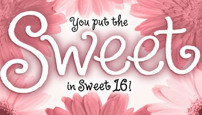 Sweet 16 Birthday Card Greeting Cards by Sherry Seely – Happy Sweet 16 Birthday Cards