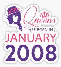 It's My Birthday 10. Made In January 2008. 2008 Gift Ideas. Sticker