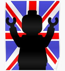 Minifig Union Jack Poster