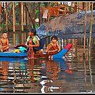 Washday in Kompong Phluk by Adri  Padmos