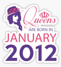 It's My Birthday 6. Made In January 2012. 2012 Gift Ideas. Sticker