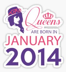 It's My Birthday 4. Made In January 2014. 2014 Gift Ideas. Sticker