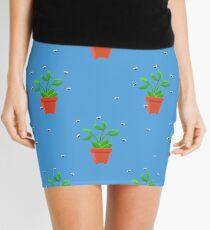 blue venus fly trap Mini Skirt