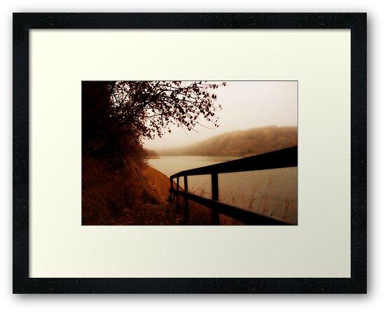 Autumn Mist - North Saskatchewan River by Roxanne Persson