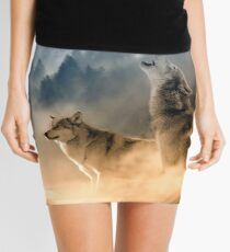 Wolf Trio and the Moon Mini Skirt