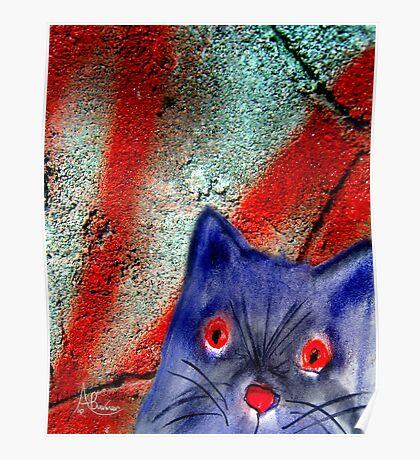 Gordon The Graffiti Cat Poster
