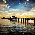 Biloxi Bay Sunset with Pier by Jonicool