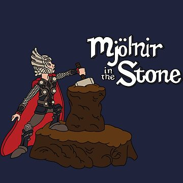 Mjolnir in the Stone (Helmet Version) by leidemera