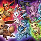Eeveelution by Drake Tsui